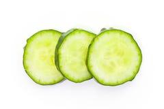 Свежий зеленый кусок огурца Стоковые Изображения