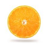 Свежий зрелый половинный апельсин изолированный на белизне Стоковые Фотографии RF