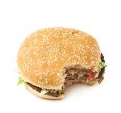 Свежий изолированный гамбургер Стоковое Изображение