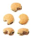 Свежий изолированный гамбургер Стоковые Фотографии RF
