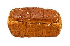 Свежий изолированный хлеб, отрезанный хлеб Стоковое фото RF