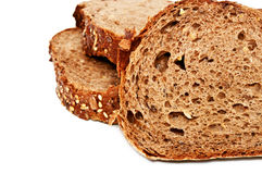 Свежий изолированный хлеб, отрезанный хлеб Стоковая Фотография