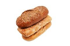Свежий изолированный хлеб Стоковая Фотография