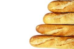 Свежий изолированный хлеб Стоковое Изображение