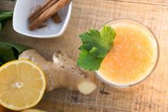 Свежий лимонад с имбирем Стоковое фото RF