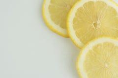 Свежий лимон изолированный на белой предпосылке Стоковые Изображения