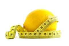 Свежий лимон с лентой стоковая фотография rf