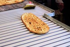 Свежий испеченный flatbread Стоковая Фотография