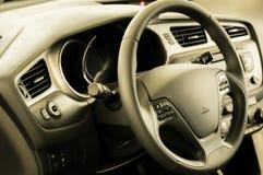 Свежий и новый интерьер автомобиля Стоковые Изображения RF