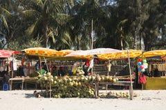 Свежий кокос глохнет на ` s St Martin, Бангладеше Стоковая Фотография