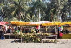 Свежий кокос глохнет на ` s St Martin, Бангладеше Стоковые Фотографии RF