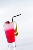 Свежий коктеиль клубники над белизной Стоковые Изображения RF
