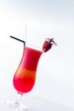 Свежий коктеиль клубники над белизной Стоковые Фотографии RF