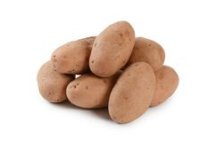 Свежий конец картошки вверх изолированный на белой предпосылке Стоковая Фотография RF