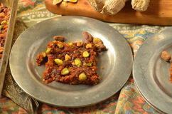 Свежий корень имбиря, 2 плиты моркови Burfi Стоковое Фото