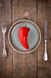 свежий красный цвет перца Стоковое фото RF