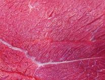 Свежий крупный план текстуры сырого мяса Стоковые Фотографии RF