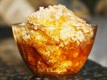 Свежий мед в гребне Стоковое Фото
