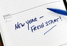 свежий новый год старта стоковое изображение rf
