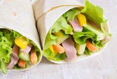 свежий обруч сандвичей Стоковое фото RF