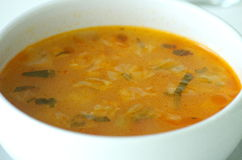 Свежий овощной суп Стоковые Фото