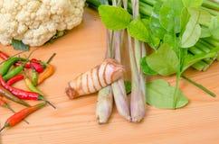 Свежий овощ на деревянной таблице Стоковая Фотография