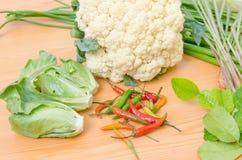 Свежий овощ на деревянной таблице Стоковое Изображение RF