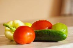 Свежий овощ на таблице Стоковые Фотографии RF