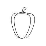 Свежий овощ перца иллюстрация вектора
