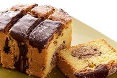Свежий домодельный торт губки шоколада Стоковое Изображение