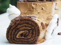 Свежий домодельный торт кофе Стоковые Изображения RF