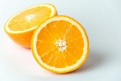 Свежий оранжевый плодоовощ в отрезке, фото макроса близкое поднимающее вверх Здоровая и естественная еда Стоковые Изображения