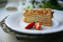 Свежий очень вкусный торт меда Стоковые Фото