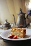 Свежий очень вкусный торт меда Стоковое фото RF