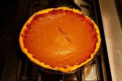 Свежий пирог тыквы Homade весь охлаждая на верхней части плиты Стоковые Фотографии RF