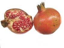 Свежий плодоовощ гранатового дерева на белой предпосылке Стоковые Фотографии RF