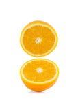 Свежий половинный апельсин на белой предпосылке Стоковое Изображение