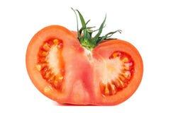 Свежий половинный томат на белой предпосылке Стоковые Фотографии RF
