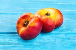 Свежий плоский персик Стоковое Фото