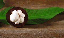 Свежий плодоовощ мангустана Стоковое фото RF