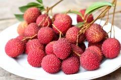 Свежий плодоовощ litchi Стоковые Фото