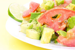 свежий салат плиты Стоковые Изображения RF