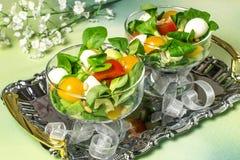 Свежий салат с моццареллой, томатами, авокадоом и салатом Стоковая Фотография