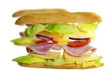Свежий сандвич летания с ветчиной и сыром стоковые фото