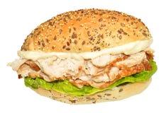 Свежий сандвич цыпленка и салата Стоковые Изображения