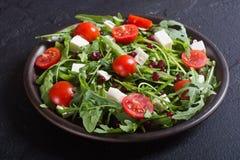 Свежий салат весны с rucola стоковое изображение rf