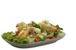 Свежий салат изолированный на белой предпосылке Стоковое Изображение RF