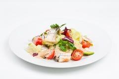 Свежий салат с авокадоом и копченым угрем Стоковые Изображения