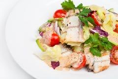 Свежий салат с авокадоом и копченым угрем Стоковое Фото