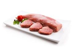 свежий свинина сырцовый стоковая фотография rf